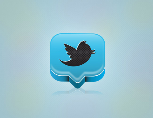 Create a Professional 3D Twitter Icon in Illustrator