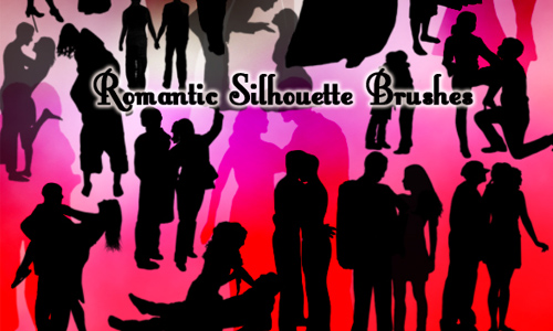 Romantic Silhouette Brushes