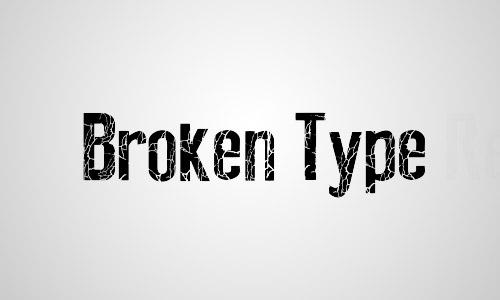 free crack font broken type