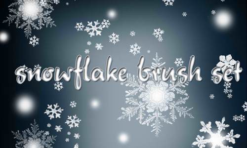 snowflake brushes