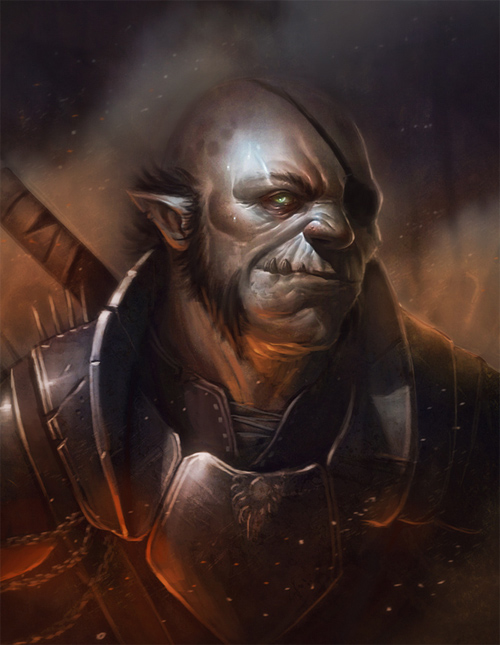 beautiful orc manboy