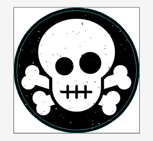 Create a Skull & Crossbones Sticker Design in Illustrator