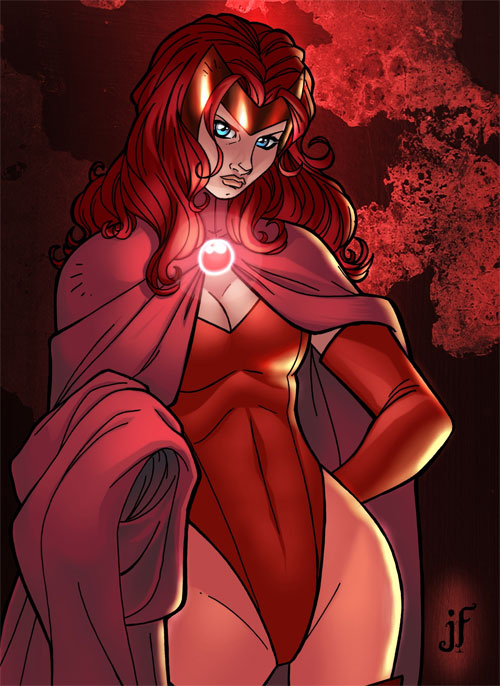 Jamie's Scarlet Witch Coloured