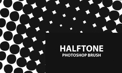 Free Halftone Photoshop Brush Set