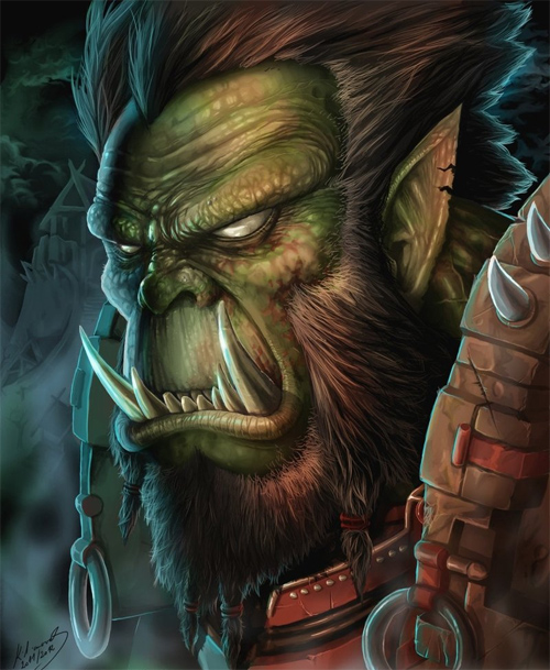 warcraft orc portrait