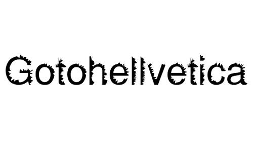 Gotohellvetica Normal font