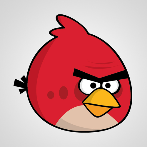 HOW TO CREATE ANGRY BIRDS CHARACTERS IN ADOBE ILLUSTRATOR. (RED BIRD)