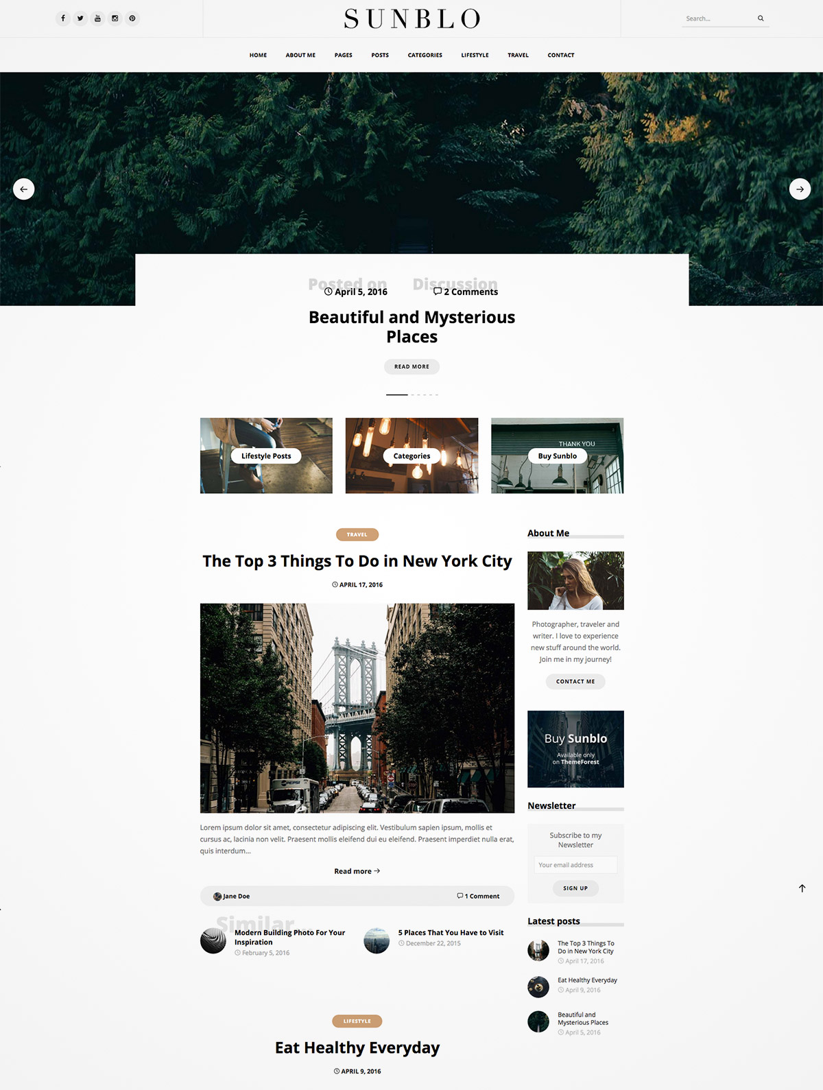 responsive wordpress blog