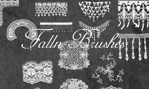Mesh Lace and Fringe Brushes