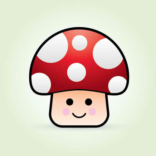 How To Create a Cute Vector Mushroom Character