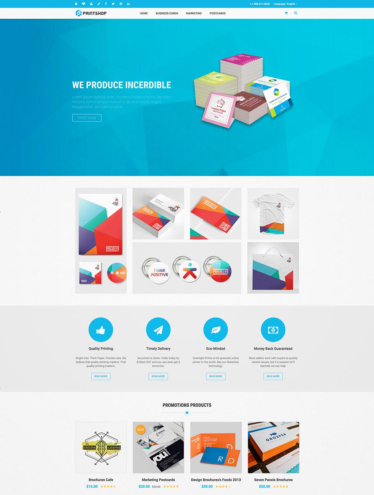 responsive printing theme