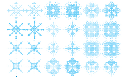 24 Snowflake Brushes