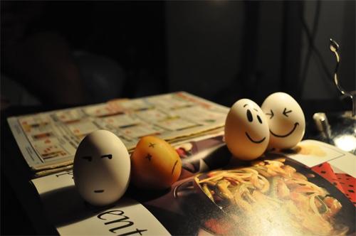 egg in pain