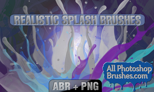 Realistic splash brushes