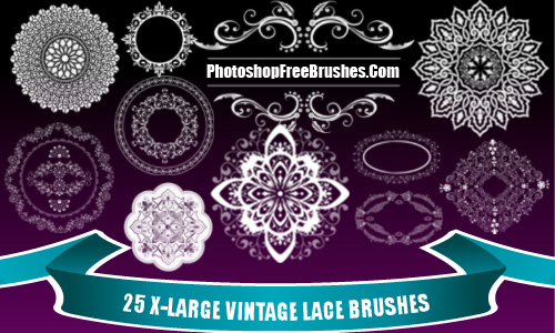25 Vintage Lace Photoshop Brushes Part 2