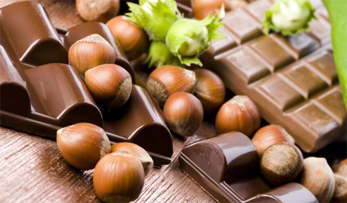 Chocolate and hazelnuts