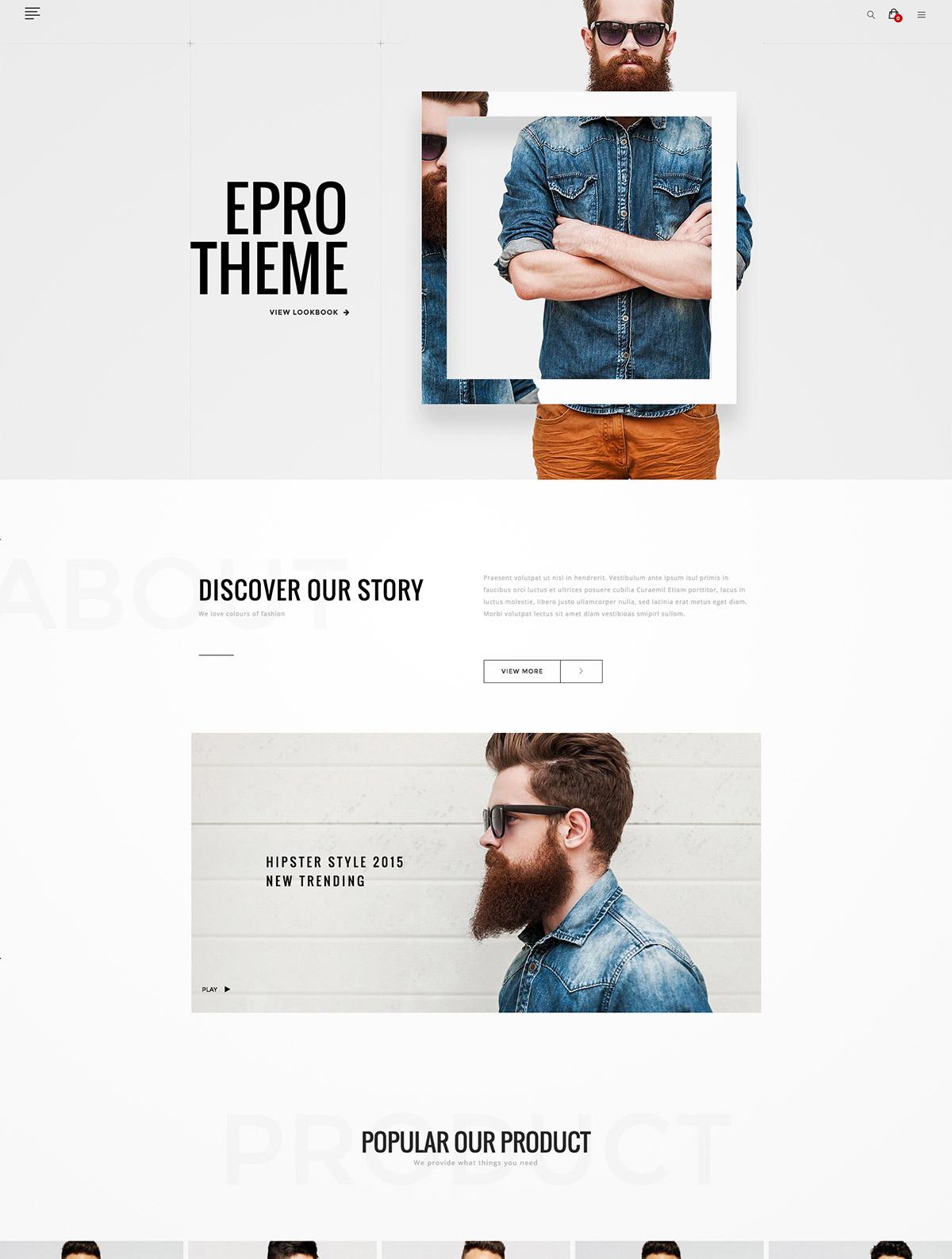 responsive web theme