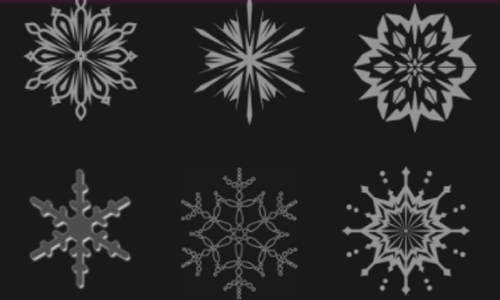Photoshop Snowflake Brushes