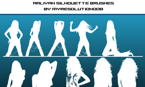 Aaliyah Silhouette Brush Set