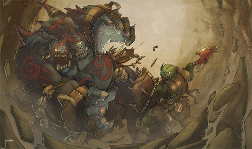 ogre magi vs orc warrior