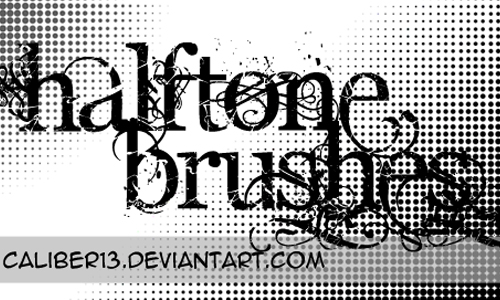 Halftone Brush Set