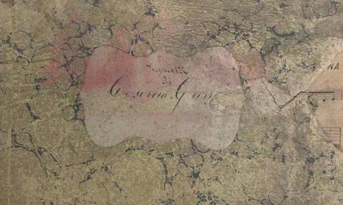 antique music book cover