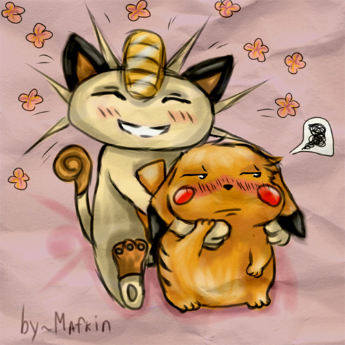 meowth and pikachu