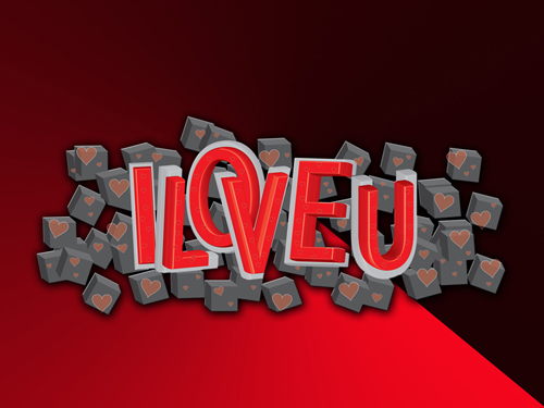 Learn How To Create Dramatic 3D Valentine Text Effect