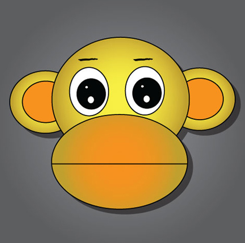 Create A Cute Monkey In 5 Easy Steps In Illustrator