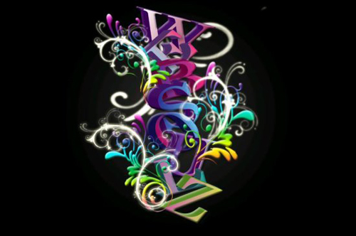 3D Amazing Colorful Text Effect