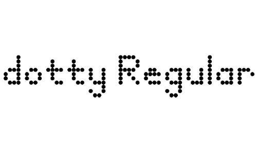 dotty font