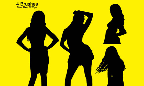 4 Female Silhouettes
