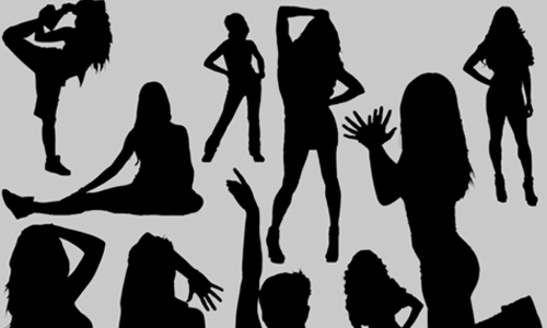 10 Female Silhouettes