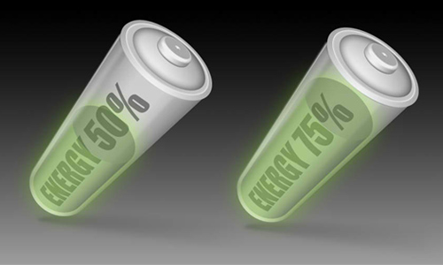 Icon, battery, energy level