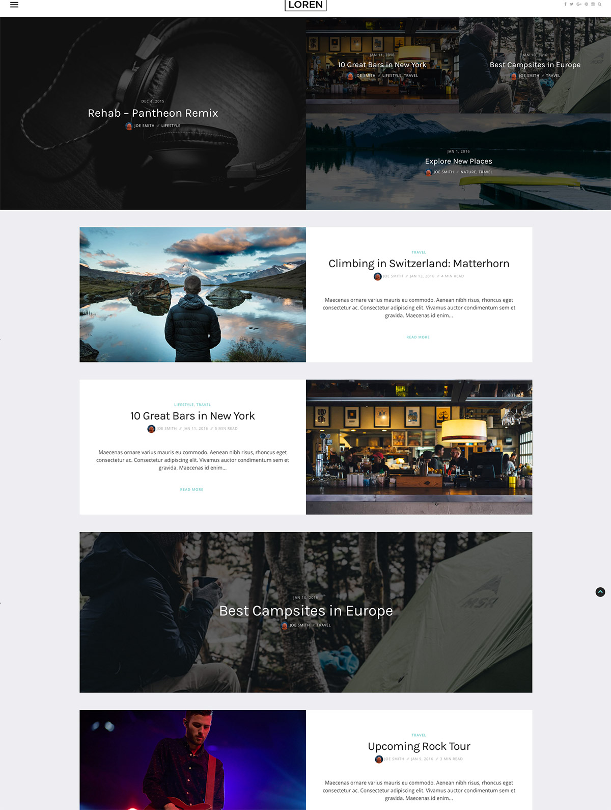 clean blog themes