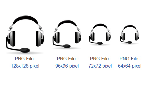 Devices audio headset Icon