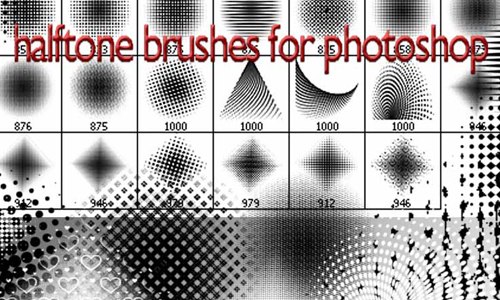halftone brushes C