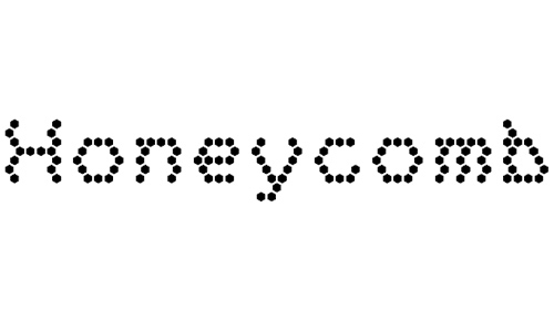 Honeycomb font