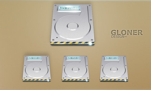 Hard Drive icon set