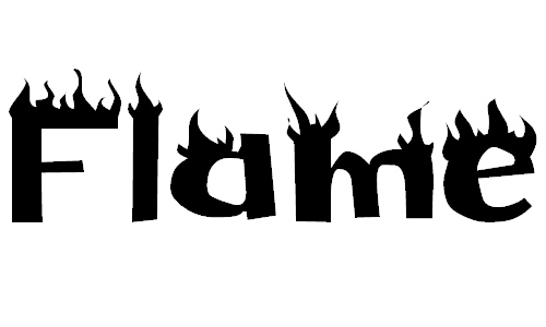 13 flame type fonts images fire flames letters fonts, gothic.