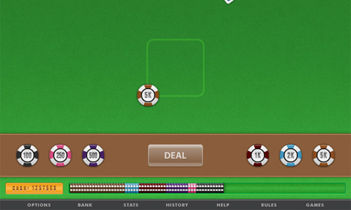 How to Illustrate a Mobile Phone Blackjack App Interface