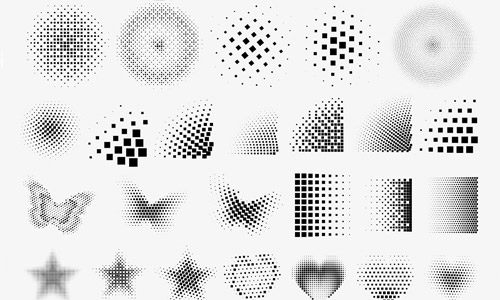 30 Awesome Sets of Halftone Brushes | Naldz Graphics