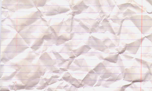Crumpled Lined Paper