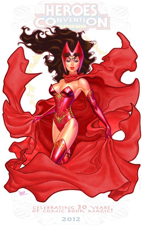 Scarlet Witch print for Heroes Con