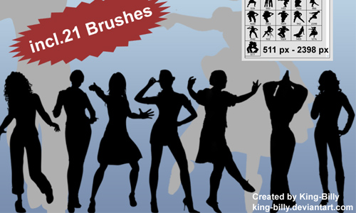 Silhouette brushes V3