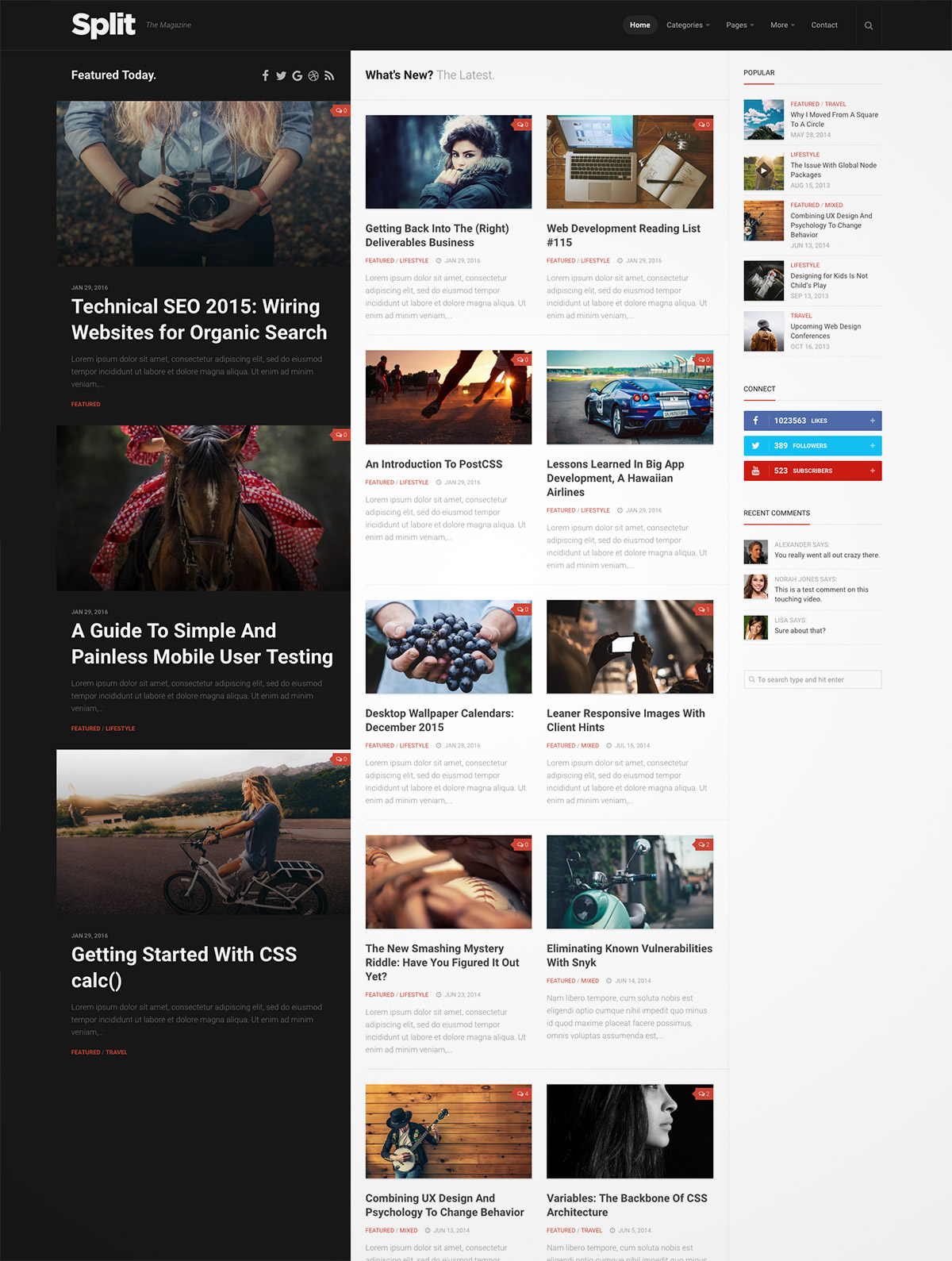 responsive magazine theme
