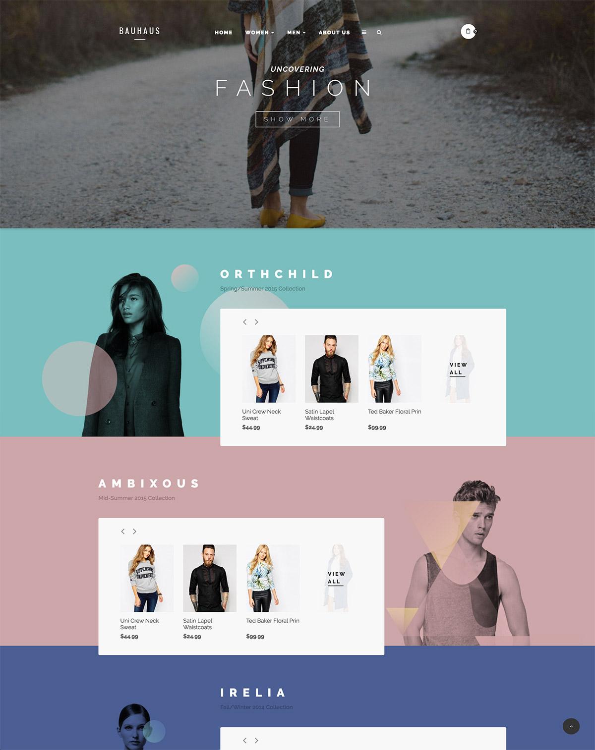 modern shop theme