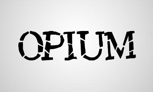 opium free crack font