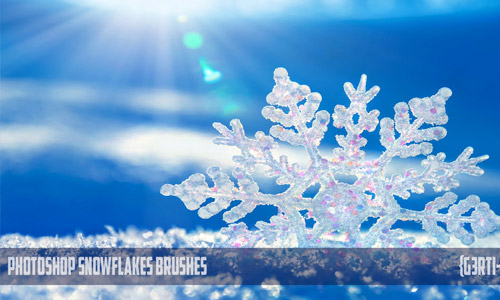 photoshop snowflakes brushes