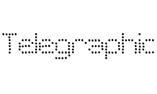 SF Telegraphic font